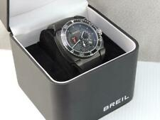 MENS SWISS BREIL CHRONOGRAPH WATCH WRISTWATCH IN BOX CARBON FIBER DIAL