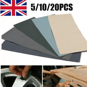 20PCS Wet and Dry Sandpaper 2000-7000 Grit Sand Paper Waterproof Fine Coarse Kit