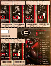 2017 Georgia Bulldogs Unused Football Season Ticket Sheet - Excellent Condition!