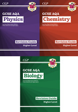 Neue CGP 9-1 Klasse GCSE exzellente Revision Ratgeber Biologie Physik Chemie 3 Bücher Set