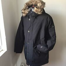 Timberland Men's HyVent DOWN Parka with Faux Fur Trim NWT size XL