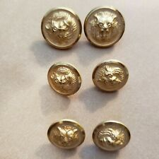 """Silvertone Metal Buttons x 25 pieces 9//16/"""" 14 mm Coat of Arms White Buttons"""