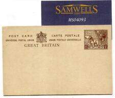 MS4093 Great Britain Stationery 1924 WEMBLEY 1½d Postcard EMPIRE EXHIBITION LION
