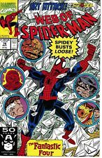 WEB OF SPIDER-MAN 76 Marvel Very Fine+N/M Art Attack Pt 4 Fantastic Four X-Over