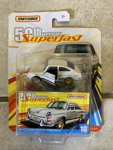 Matchbox 2019 Superfast 50th Moving parts VW 1600 Weiss China Auflage