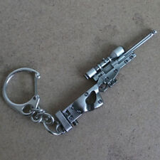 Mini Military AWM Sniper Gun Weapon Model Metal Pendant Keychain Key Ring Gift