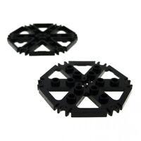 2x Lego Technic Rotor Platte schwarz ca 7x7 6 Clips Rotorblätter 4539442 64566