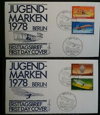 Germany Berlin 1978 FDC 1978 Youth Welfare Aviation First Day Cover Aircraft