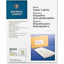 """Business Source Mailing Labels 1""""x2-3/4"""" 3300/PK White 26131"""