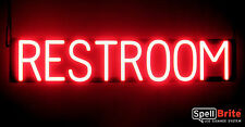 SpellBrite Dimmable RESTROOM Sign Neon-LED Sign (Neon look, LED performance)