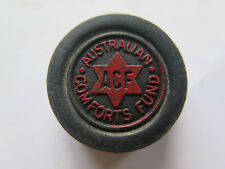 ACF AUSTRALIAN COMFORTS FUND WOODEN DRAFT CHECKER W W II from SET 1940 in BLACK