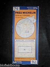 Vintage 1935 français MICHELIN carte: Aurillac St Etienne (feuille 76/carte France)