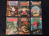 DC HORROR Bronze lot of 6 comics: House of Mystery, House of Secrets,Unexpeced..