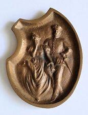 Fine Vintage Cast Bronze Risque Decorative Ashtray WWI Era Germany Soldier-Maid