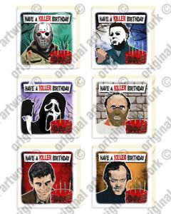 Horror Movie Villains Birthday Cards Cult Goth Monster Birthday Greeting Card