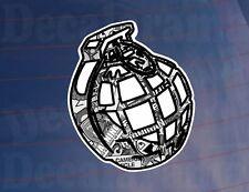 Autocollant Grenade Bombe Noir & Blanc VOITURE / FOURGONNETTE / Pare-chocs / Fenêtre Autocollant Vinyle Imprimé