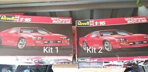 2 x Revell 1:16 1987 IROC Z-28 Camaro model kit. Unassembled