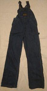 Vintage Washington DEE CEE Sanforized Blue Denim Bib Overalls Size 31/34