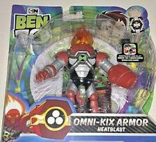 "BEN 10 CARTOON NETWORK OMNI-KIX ARMOR HEAT BLAST 4"" ACTION FIG. W/BONUS CODE!"