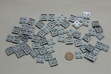 Lego Plates 3022 2x2 Lot of 59 Light Bluish Gray Legos Parts Item #260