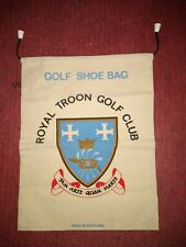 Vintage Royal Troon Golf Club Shoe Bag From Scotland Free Shipping