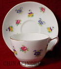 CROWN STAFFORDSHIRE china FLORAL BOUQUET pattern Cup & Saucer