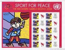 UNO NEW YORK - 2008 GRUSSMARKEN BOGEN 94c OLYMPIA 1102 SPORT FOR PEACE ** - S 25