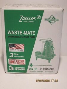 ZOELLER 267-0001 M267 Sewage Effluent Dewatering Pump 0.5HP 115V 1PH-NIB F/SHIP!