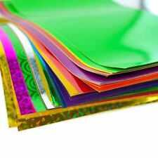 A4 Adhesive Craft Paper Peel & Stick Coloured Holographic Metallic Art Sheet
