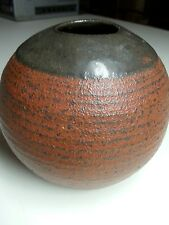 Studio Art Pottery bulbas Vase matte color round Vessel Signed katz