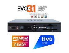 DECODER MEDIASET PREMIUM EVO 3.1 DIGIQUEST PER VISIONE HD FULL HD LETTORE CARD