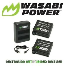 Wasabi Power Battery 1160mAh x 2 with Dual USB Charger for GoPro HERO4 AHDBT-401