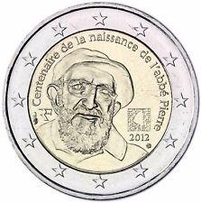 Frankreich 2 Euro Münze Abbe Pierre 2012 Gedenkmünze Priester unzirkuliert