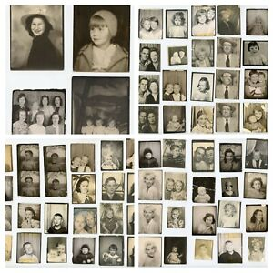 Mixed Lot of 69 Vintage 30s 40s 50s Photo Booth Photos