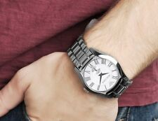 Emporio Armani Mens Watch Stainless Steel Bracelet Silver Dial AR0647