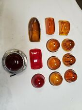 12 Vtg Glass Lenses - Car - Truck