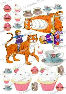 The Tiger Who Came To Tea, Inspired Printed Cake/ Cupcake Topper Edible Icing