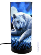 """Lisa Parker Mood Lamp: """"Guardian of the North"""" Wolf Wolves"""