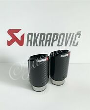 "2.25"" 57mm 1 AKRAPOVIC 3"" CARBON EXHAUST TIP AUDI VW FORD VAUXHALL MG BMW E46 M3"