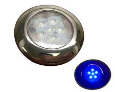 Marine Boat Blue LED Ceiling Light SS304 Housing Surface Mount 12V 17LM 6 LEDs