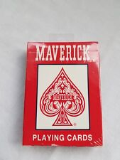 Maverick Playing/Poker Cards Red New & Sealed