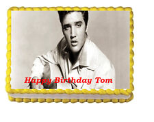 Elvis Edible Image Cake Topper Birthday Party 1/4 sheet