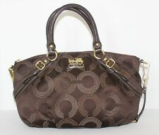COACH 15935 $298 MADISON SOPHIA DOTTED OP ART CARRYALL SATCHEL  BAG  15935  $298