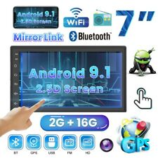 7'' Android 9.1 Bluetooth Autoradio Stereo GPS HD MP5 Player WIFI FM 2Din 2G+16G