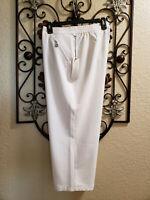 CHICO'S NWT Size 2 (Large) Zenergy White ElasticWaist Pants with Pockets