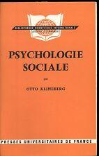 PSYCHOLOGIE SOCIALE. OTTO KLINEBERG.
