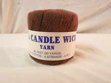 NEW Q's Candle Wick Yarn *Brown* 100% Cotton 30 Yards 4 Strands 3 Ply *Colorfast