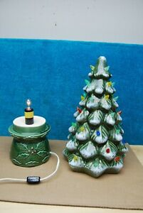 "Vintage Halo Ceramic lighted Christmas Tree Large 18"" ht Heavy Construction!"