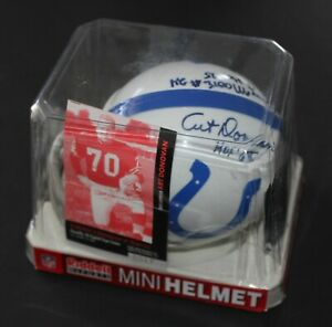Baltimore Colts Autographed Mini Helmet Art Donovan and Lenny Moore  MUST SEE