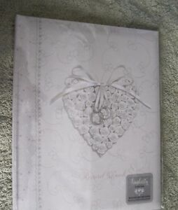 Simplicity Wedding Record Book.  White with Heart